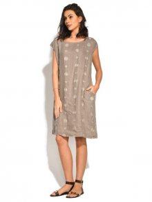 Bohabille Dámské šaty 6823 - GRANITE TAUPE
