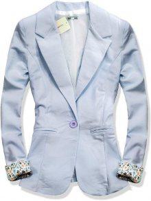 Světle modré ležérní sako