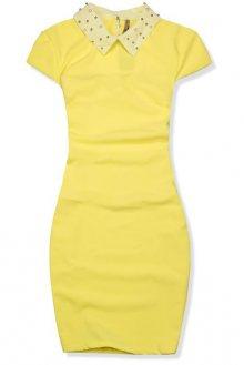Žluté pouzdrové šaty