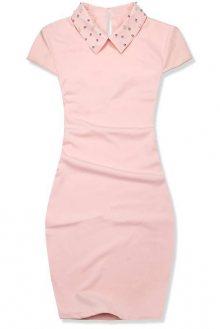 Světle růžové pouzdrové šaty