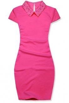 Růžové pouzdrové šaty