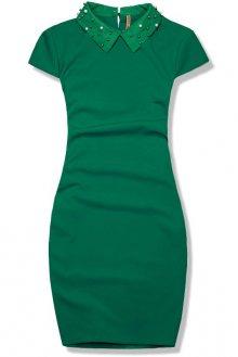 Zelené pouzdrové šaty