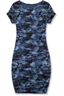 Modré ležérní army šaty