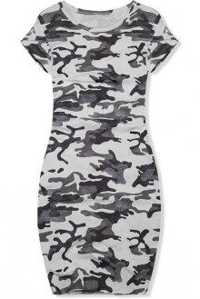 Šedé ležérní army šaty