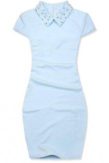 Baby blue pouzdrové šaty