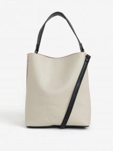 Růžovo-krémová kabelka s detaily ve zlaté barvě Nalí