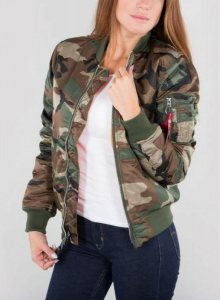 Bomber Camouflage MA-1 SF Women M