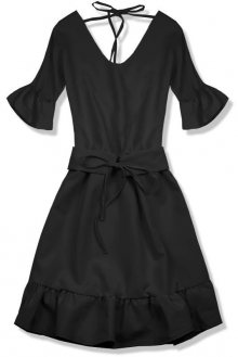 Černé šaty s výstřihem na zádech