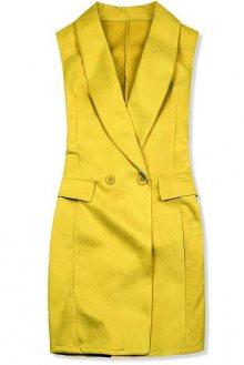 Žlutá prodloužená vesta