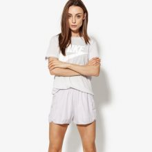 Nike Tričko Ss W Nsw Essntl Tee Hbr Ženy Oblečení Trička 829747-093 Ženy Oblečení Trička Šedá US XS