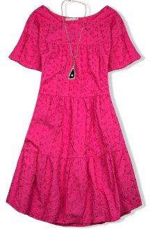 Malinově růžové lehké letní šaty