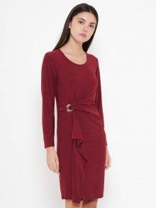 Victoria Look Dámské šaty BOUCLE-BORDEAUX\n\n