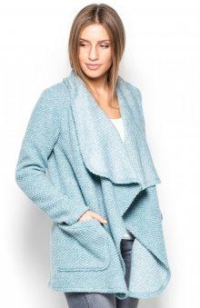 Katrus Dámský krátký kabát z vlněné směsi K408_blue\n\n