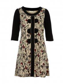 Yumi Dámské šaty Y1241BLACK&CREAM\n\n