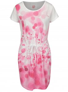 Růžovo-bílé vzorované šaty s kapsami LOAP Bubba