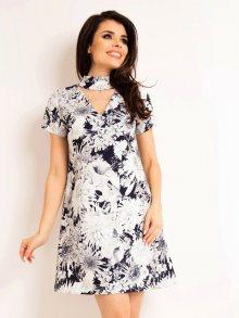 Awama Dámské šaty A171_FLOWERSNAVY\n\n
