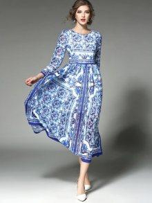 Kaimilan Dámské šaty QA201 Blue & White print