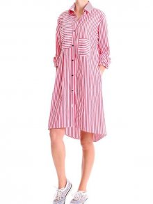 Tendenze Dámské šaty 33336-021_red stripes