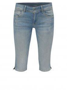 Modré dámské džínové straight kraťasy Pepe Jeans Saturn crop