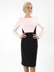 Juliet Roses Dámské šaty D_33_11_Pink / Black