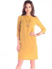 Laura Bettini Dámské šaty M233_51gb_mustard