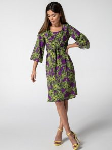 Rita Koss Dámské šaty RK88_GREEN_LEAVES