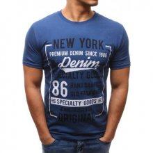 Pánské tričko s potiskem světle modré