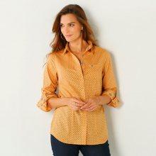 Blancheporte Košile s puntíky šedá/medová 52