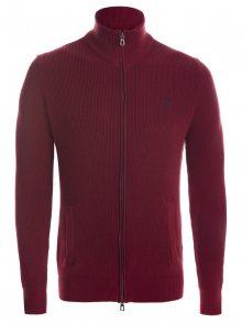 Bordový prémiový svetr na zip od Ralph Lauren Velikost: M