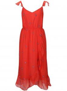 Červené květované šaty VERO MODA Danni