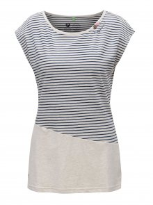 Béžové dámské pruhované tričko Ragwear Ninon Organic