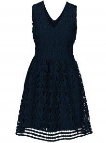 Tmavě modré krajkované šaty VERO MODA New Exclusive