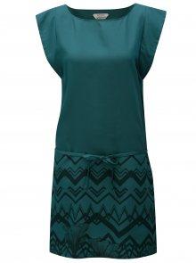 Tmavě zelené šaty s potiskem Skunkfunk Tilde