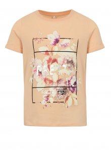 Meruňkoké holčičí tričko s potiskem name it Sandy