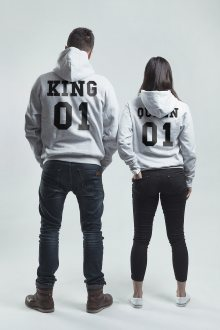 Set mikin s kapucí King & Queen 01