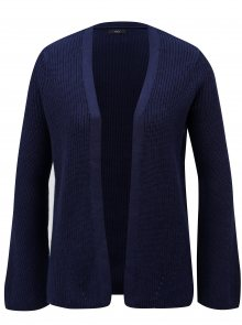 Tmavě modrý dámský žebrovaný kardigan M&Co