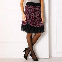Blancheporte Volánová sukně se zvířecím potiskem černá/červená 46