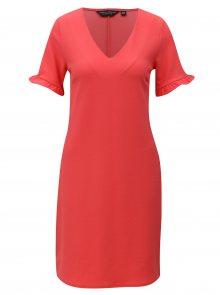 Korálové rovné šaty s volány Dorothy Perkins