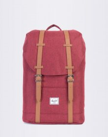 Herschel Supply Retreat Mid-Volume Winetasting Crosshatch/Tan Synthetic Leather