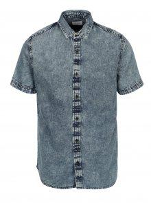 Modrá džínová slim košile ONLY & SONS Nathan