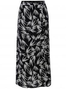 Bílo-černá vzorovaná maxi sukně M&Co