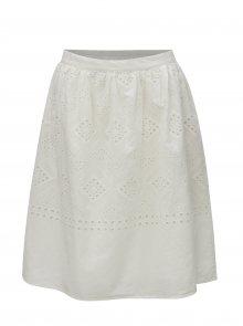 Bílá sukně s madeirou VILA Simmi