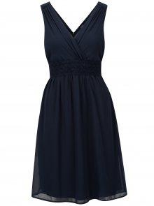Tmavě modré šaty s véčkovým výstřihem VERO MODA Mira