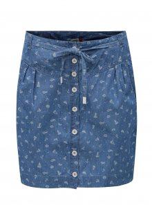 Modrá sukně s potiskem Ragwear Nina