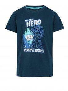 Tmavě modré klučičí tričko s potiskem LOAP Idealo