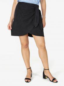 Černá zavinovací sukně VERO MODA Zuri