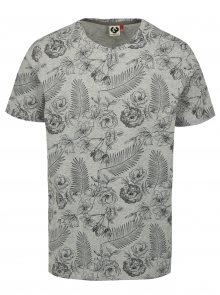 Šedé pánské květované tričko Ragwear Luka