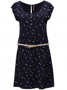 Tmavě modré dámské vzorované šaty Ragwear Zephie