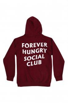 Mikina se zipem a kapucí Forever Hungry Social Club