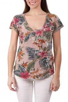 Deha barevné tričko s tropickými motivy